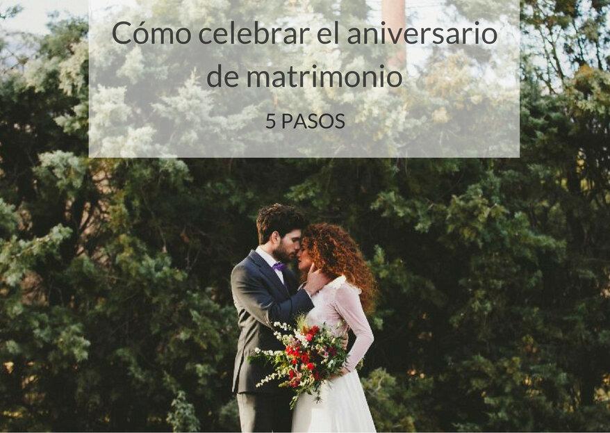 Cómo celebrar el aniversario de matrimonio: 5 claves para disfrutar con tu pareja