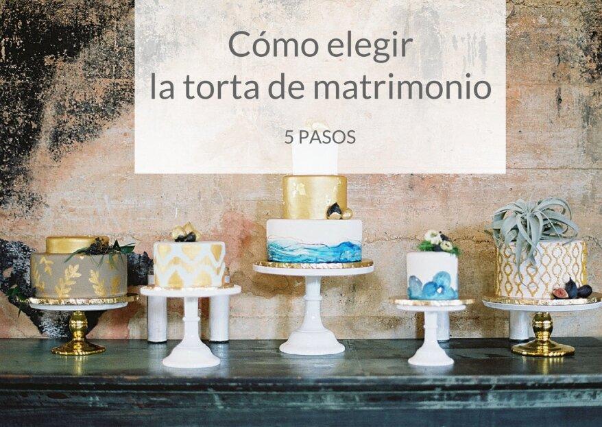 Cómo escoger la torta de matrimonio: 5 pasos para acertar con esta decisión