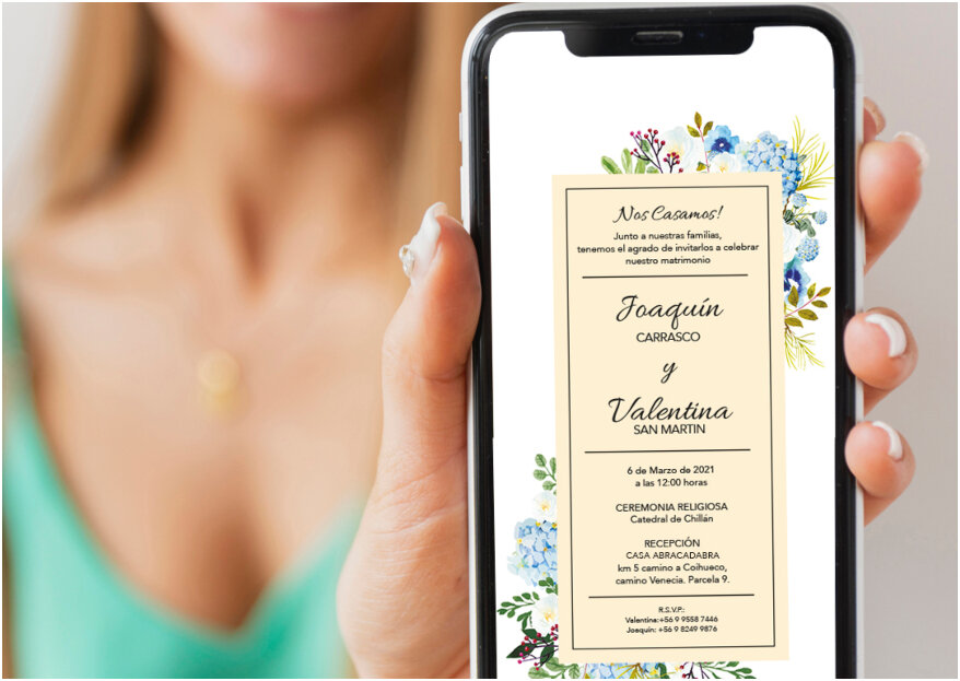 Invitaciones de matrimonio: ¿impresas o en formato digital?