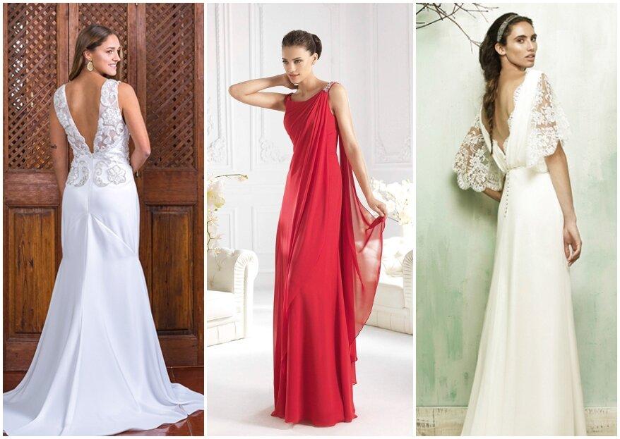 Las Adrianas Novias: vestidos de novia sencillos con una confección cuidada y perfecta