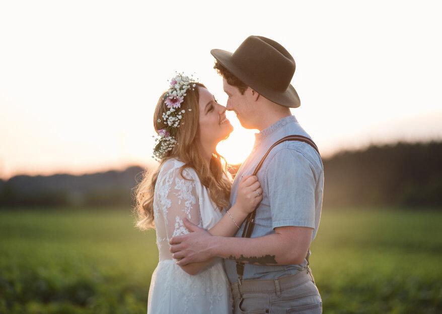 Cómo combinar el vestido de novia con el traje de novio. ¡Cinco pasos para hacerlo posible!
