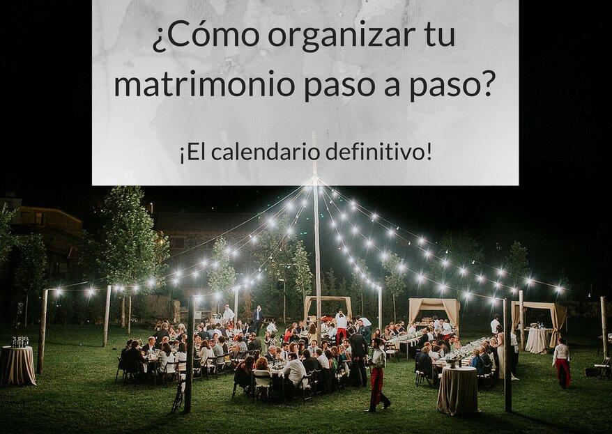Cómo organizar tu matrimonio paso a paso: ¡el calendario definitivo!